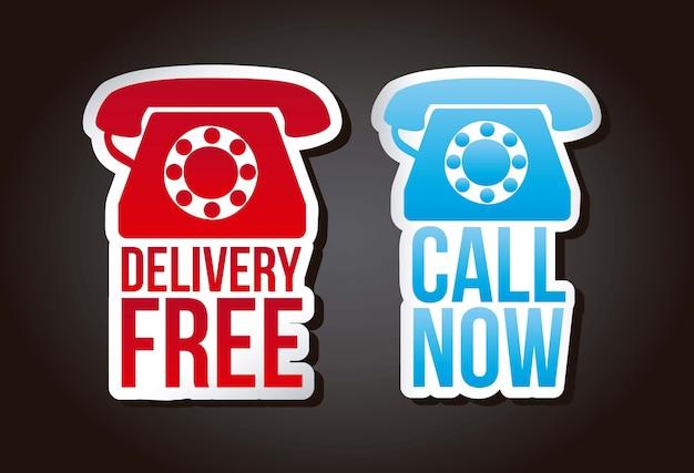 Appelez maintenant et livraison des étiquettes gratuites