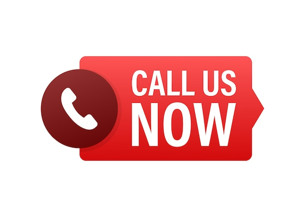 Appelez-nous maintenant. informatique. icône de téléphone. service clients. illustration vectorielle de stock.