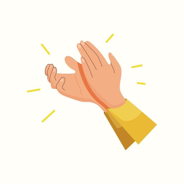Applaudissements. tapez dans vos mains. illustration vectorielle dans un style plat