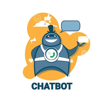 Application chatbot icon concept application robot technologie robot numérique