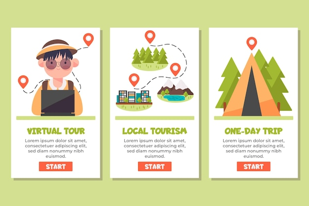 Application de concept de tourisme local