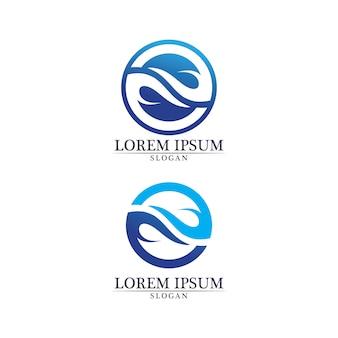 Application d'icônes de modèle de logo et symboles de plage de vagues