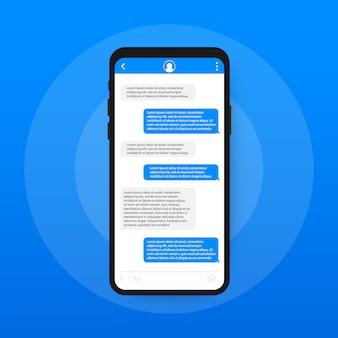 Application d'interface de chat avec fenêtre de dialogue.