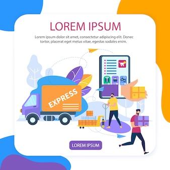 Application en ligne, service de voiture de livraison express
