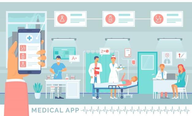 Application médicale, service en ligne pour les patients