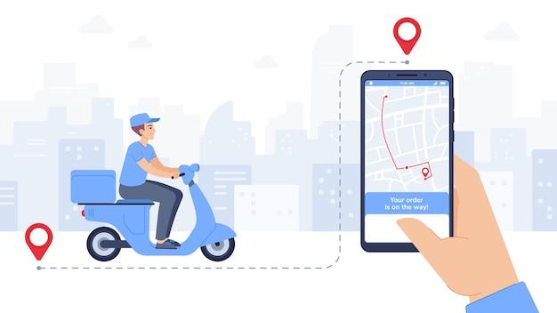 Application mobile de nourriture livrée par scooter