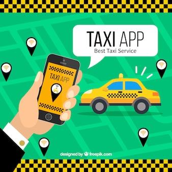 Application mobile pour les services de taxi