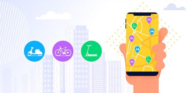 Application mobile de service de partage de voiture.