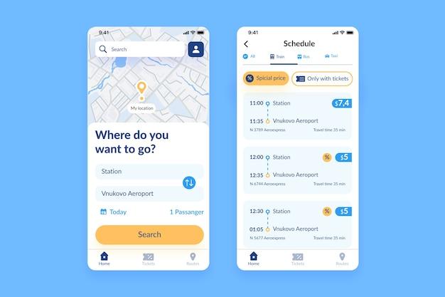 Application mobile de transport public