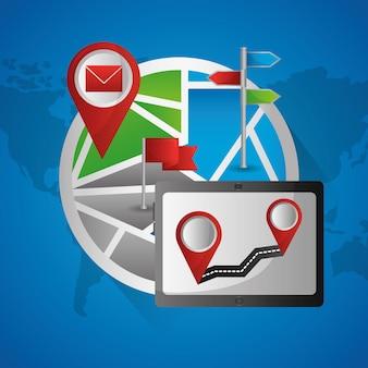 Application de navigation gps