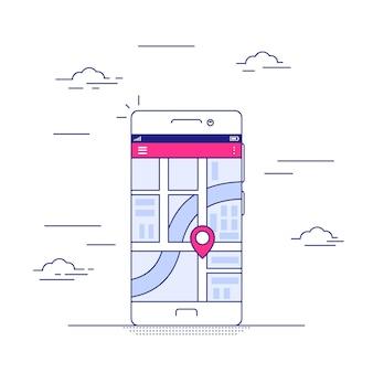 Application de navigation sur téléphone mobile