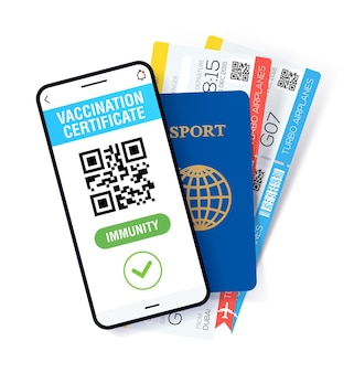Application de passeport immunitaire covid19 certificat international de vaccin numérique pour la libre circulation et les voyages