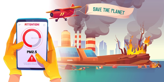Application de pollution de l'air pm2.5 pour smartphone
