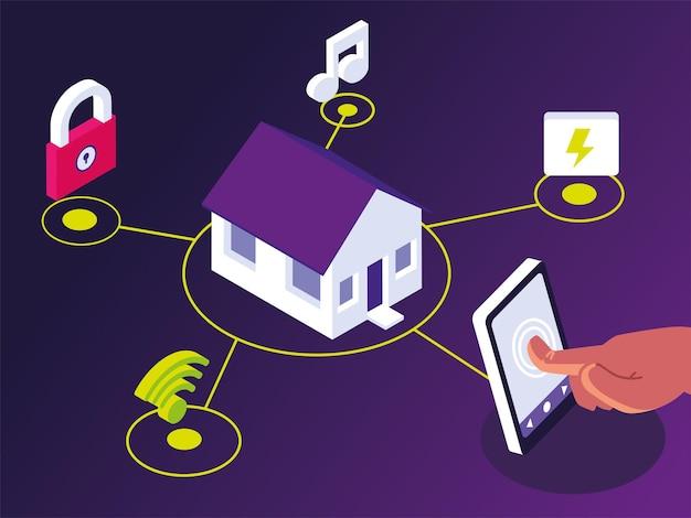 Application pour smartphone de contrôle de la maison intelligente