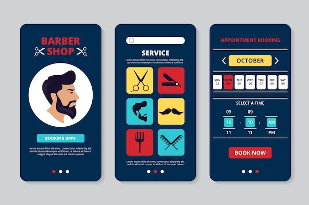 Application de réservation de salon de coiffure
