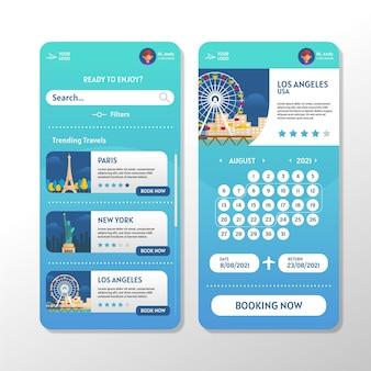 Application de réservation de voyage