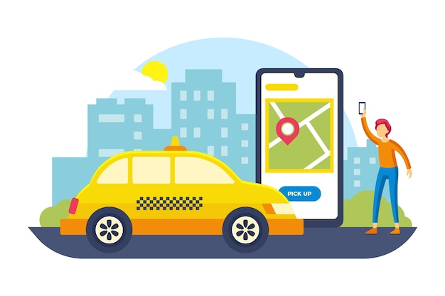 Application de service de taxi