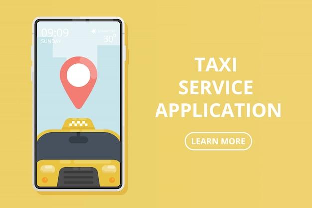 Application de service de taxi.