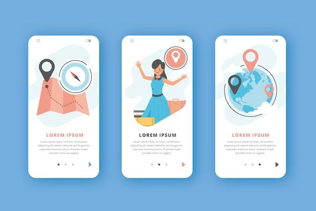 Application de voyage pour téléphones mobiles