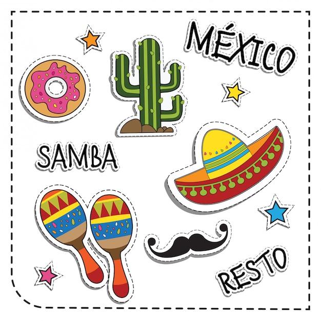 Applique autocollant fête mexicaine