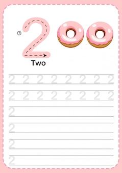 Apprendre à compter le nombre 2.