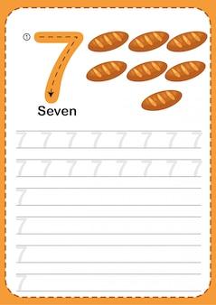 Apprendre à compter le nombre 7.