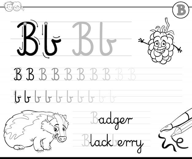 Apprendre à écrire la lettre b classeur pour les enfants