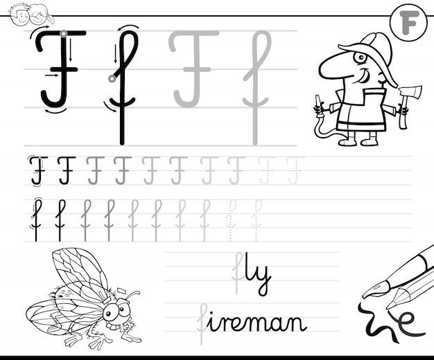Apprendre à écrire la lettre f classeur pour les enfants