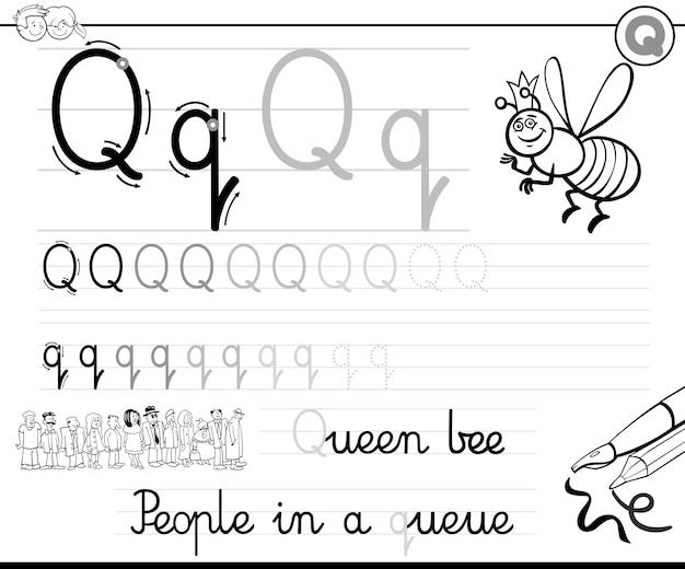 Apprendre à écrire la lettre q