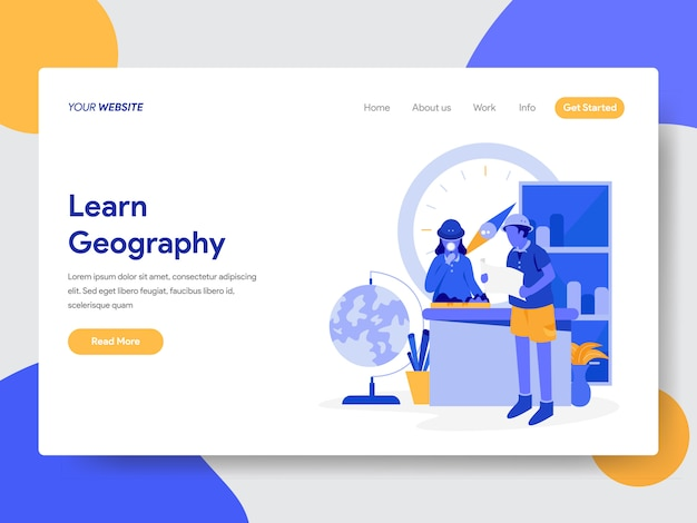 Apprendre l'illustration géographique pour les pages web