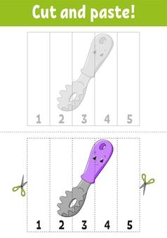 Apprendre les nombres 15 couper et coller