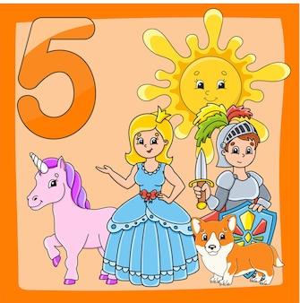 Apprendre les nombres jeu pour les enfants page d'activité en couleur