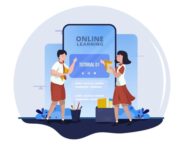 Apprendre avec des tutoriels en ligne pour l'école en ligne