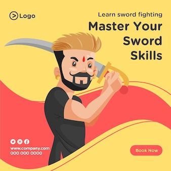 Apprenez la conception de bannières de combat à l'épée