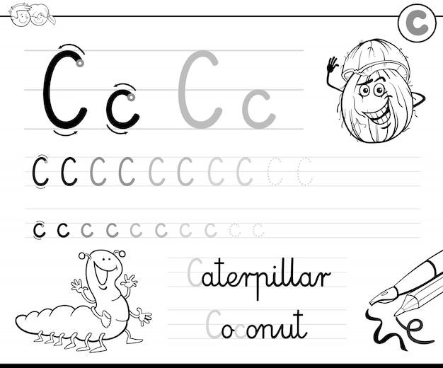 Apprenez à écrire la lettre c classeur pour les enfants