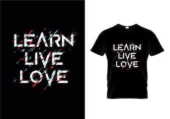 Apprenez la conception de t-shirts Love Typography
