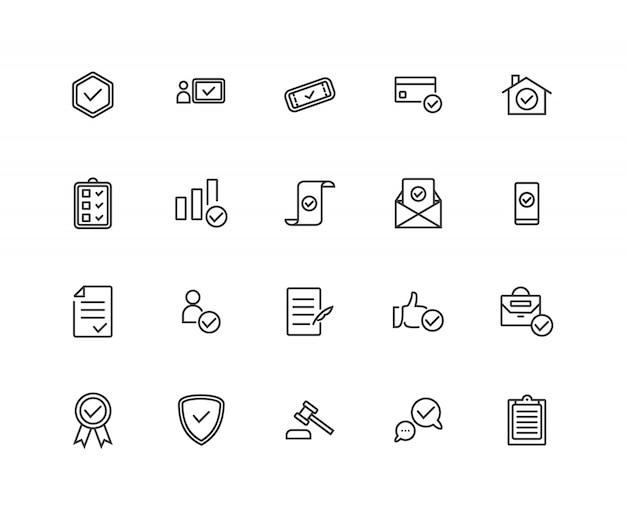 Approuver les icônes de ligne associées