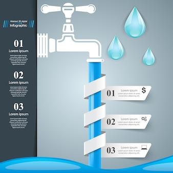 Appuyez sur l'icône. infographie d'affaires.