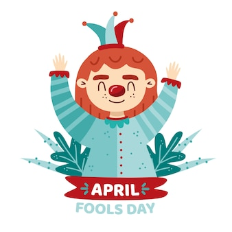 Aprils fools day concept de dessin