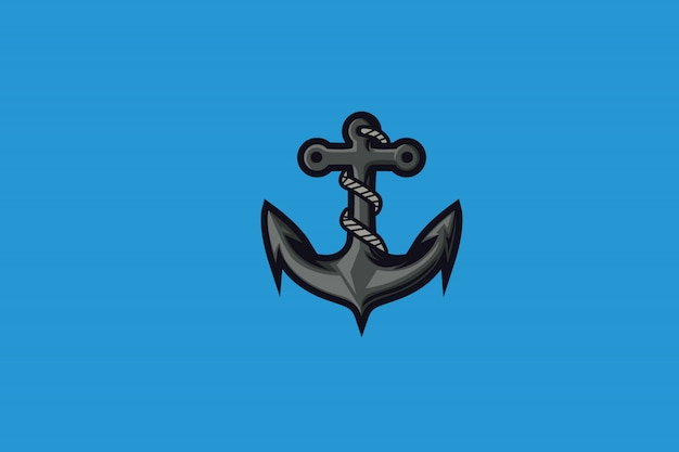 Aqua anchor clip-art pour logo mascotte esports