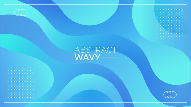 Aqua fond abstrait ondulé