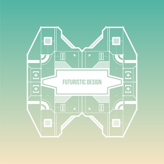 Aquamarine gradient background avec design futuriste
