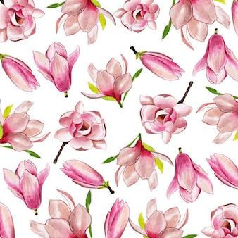 Aquarelle 2019 fond floral