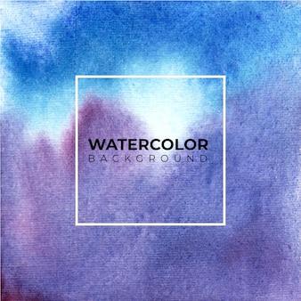 Aquarelle abstraite aquarelle peinte à la main bleu violet.