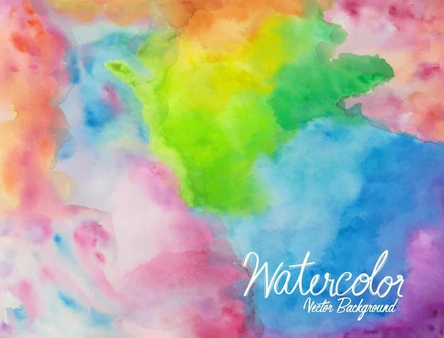 Aquarelle abstraite colorée 09