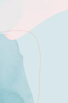 Aquarelle abstraite sur fond bleu