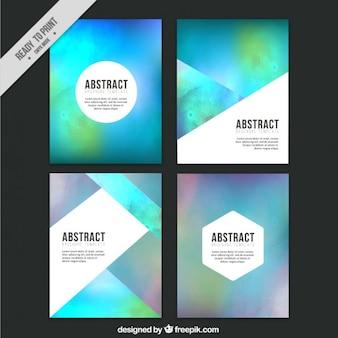Aquarelle abstraite prospectus