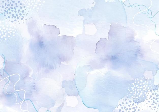 Aquarelle abstraite splash de violet et de gris avec combinaison de points et de formes