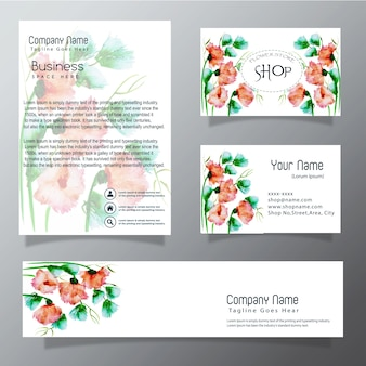 Aquarelle affaires vector collection