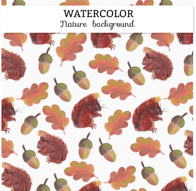 Aquarelle arrière-plan d'automne